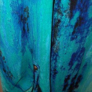 Catherine's sz 5x Aqua Tie Dye Wash Design Tunic